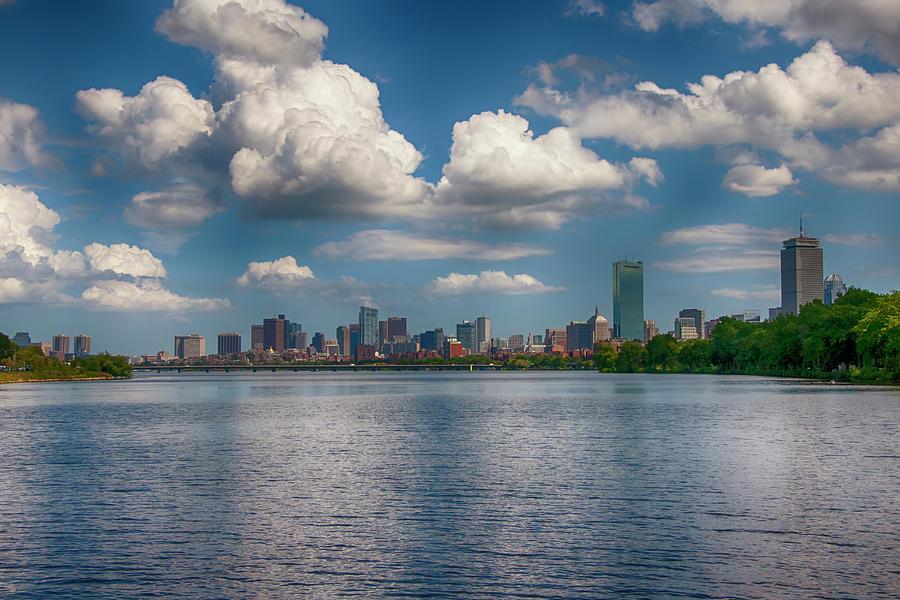 Boston Skyline from Cambridge by Joann Vitali