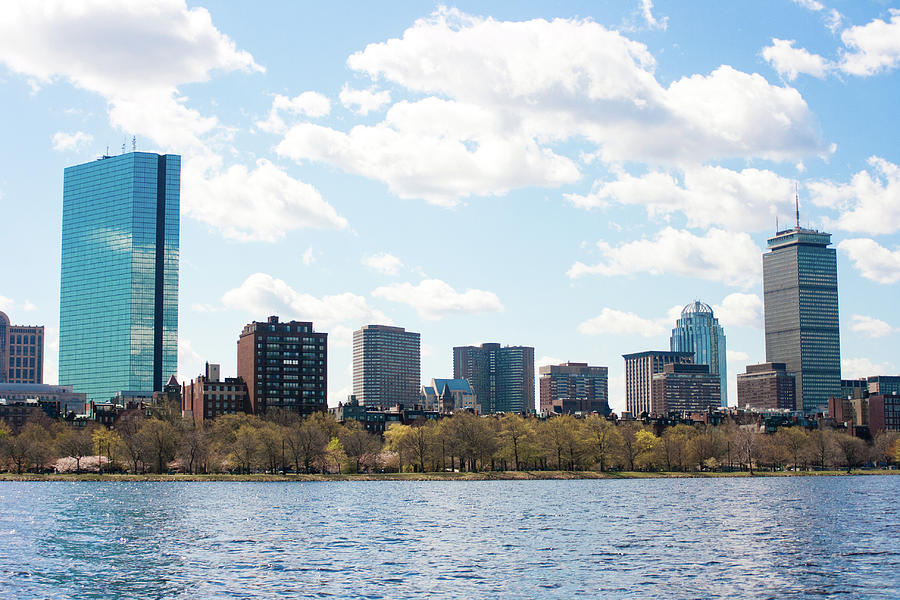 Boston Skyline From The Charles River Photograph by Raquel Lonas