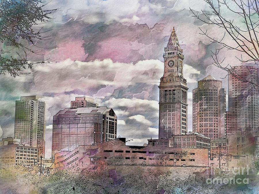 Boston Skyline by Marcia Lee Jones