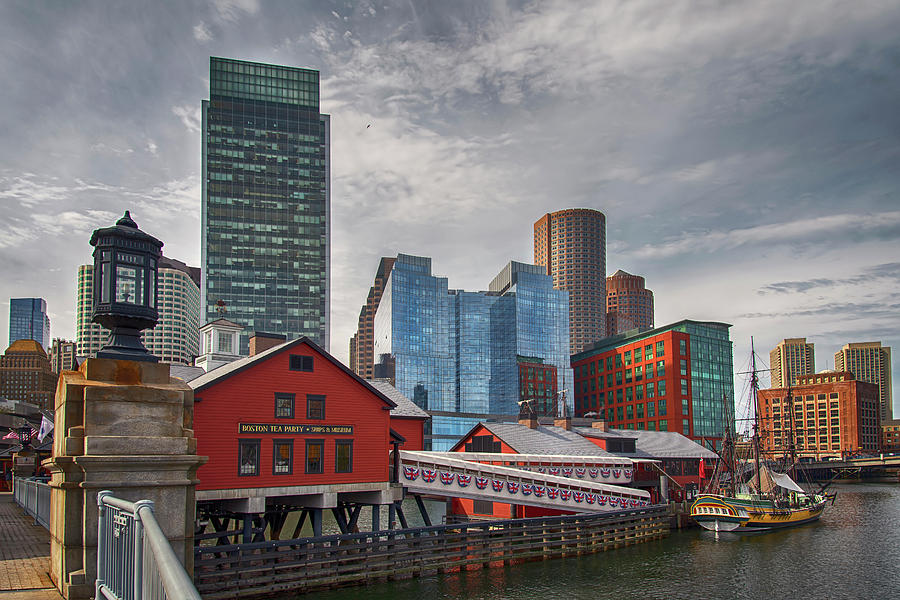Boston Tea Party Museum Congress Street Bridge by Joann Vitali