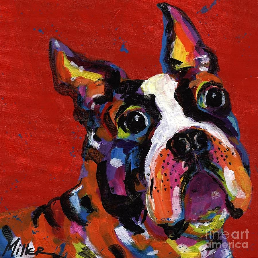 Tracy Miller Painting - Boston Terrier by Tracy Miller