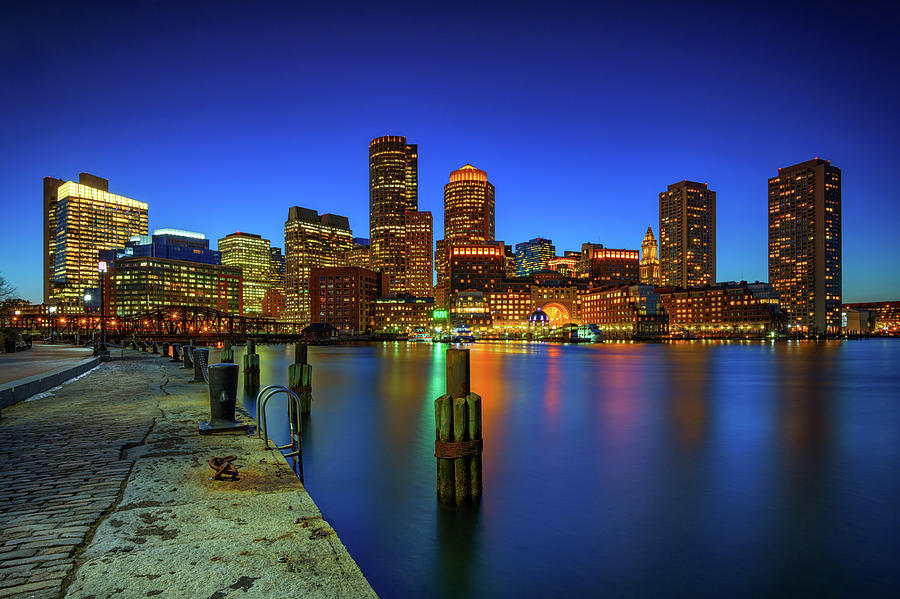 Boston Twilight at Fan Pier by Rick Berk