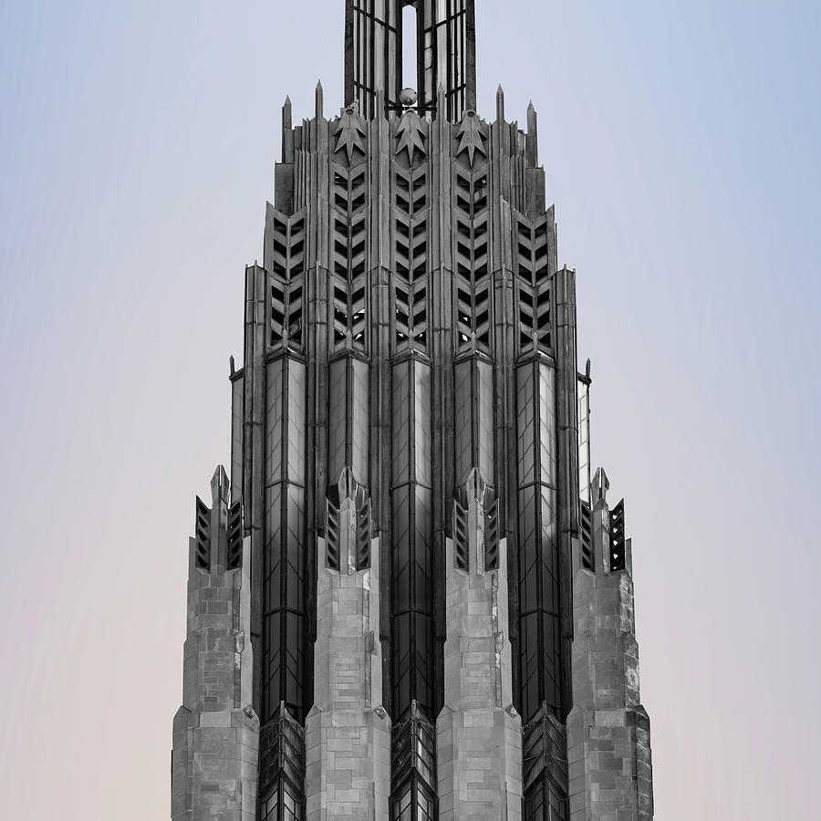 Boston United Methodist Church Tower Architecture 1x1 - Tulsa Oklahoma by Gregory Ballos