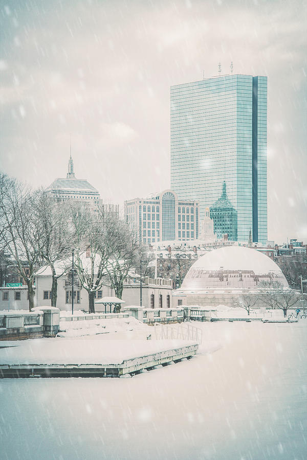 Boston Winter - Charles River by Joann Vitali