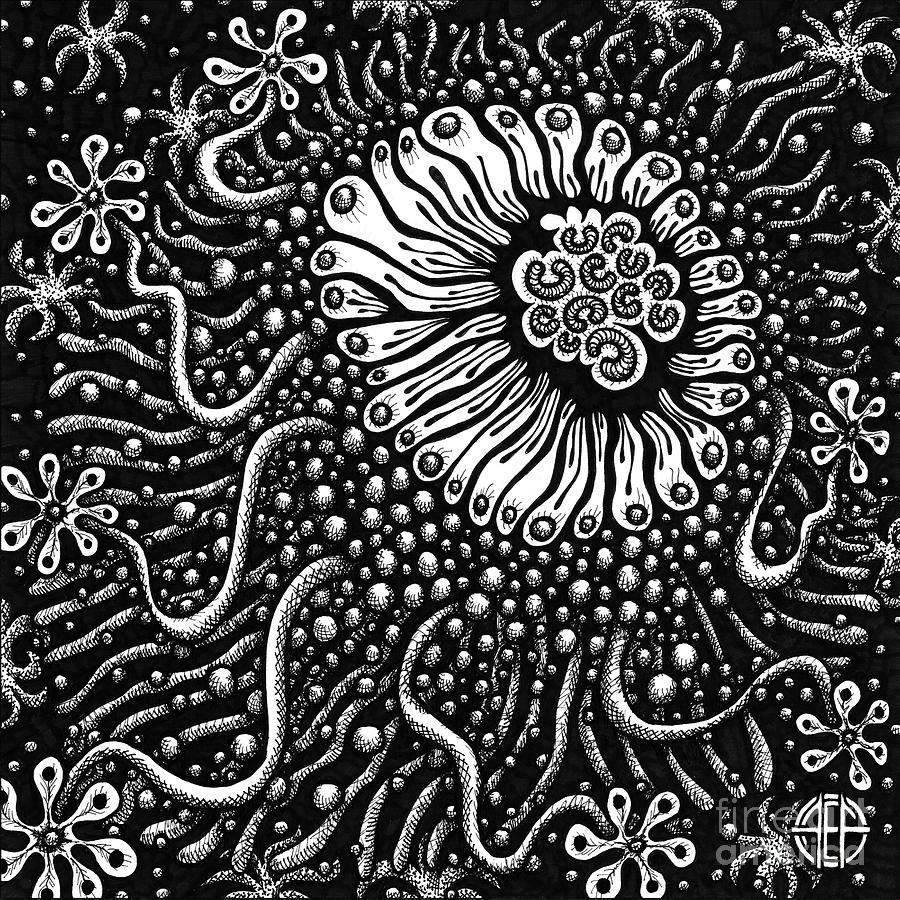 Botanical Bioform 1 by Amy E Fraser