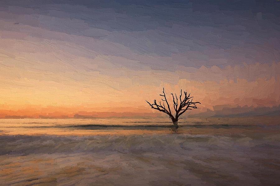 Decor Digital Art - Botany Bay Tree V by Jon Glaser