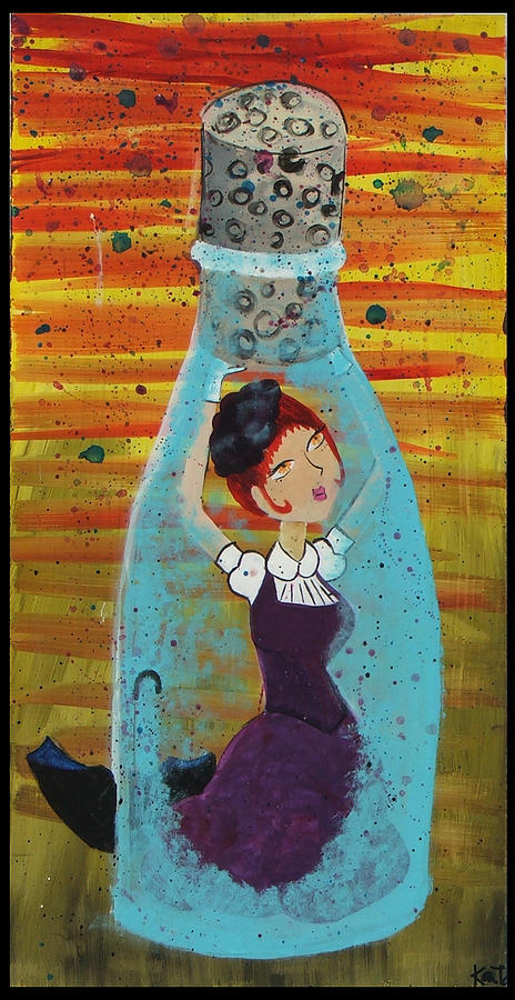 Bottled Up Painting By Kat Van Horn