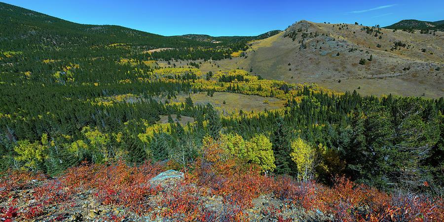 Boulder County Colorado Autumn Panoramic View Photograph
