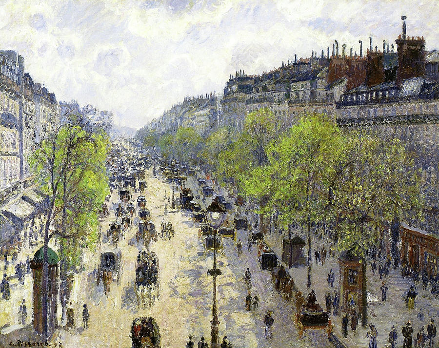 Boulevard Montmartre Painting - Boulevard Montmartre, Spring - Digital Remastered Edition by Camille Pissarro