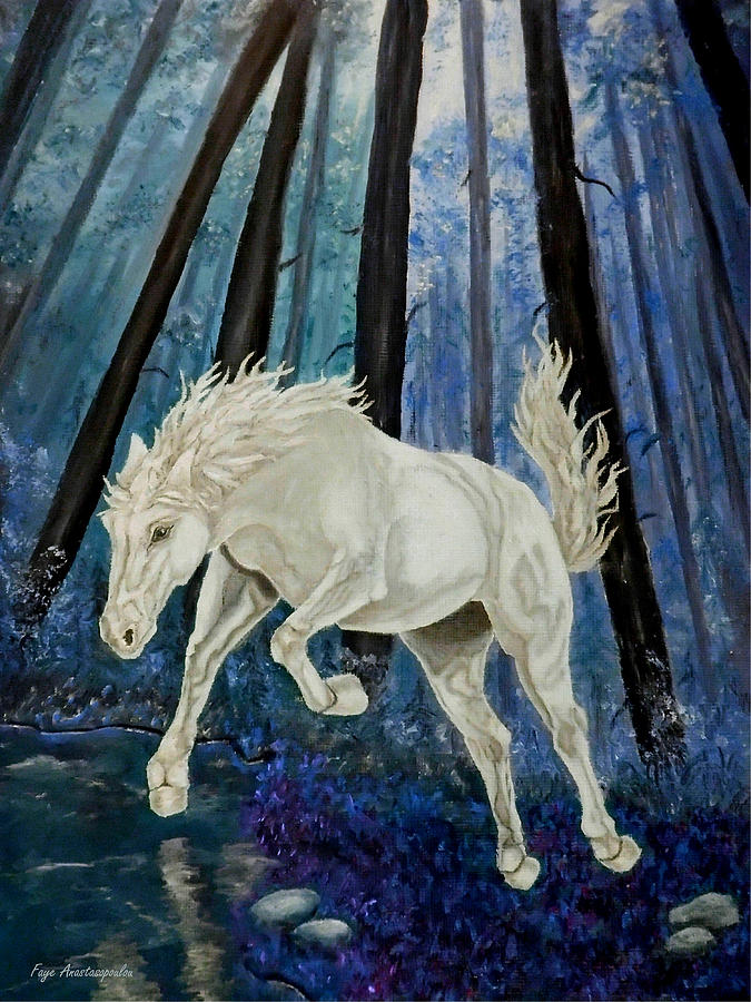Horse Painting - Boundless by Faye Anastasopoulou