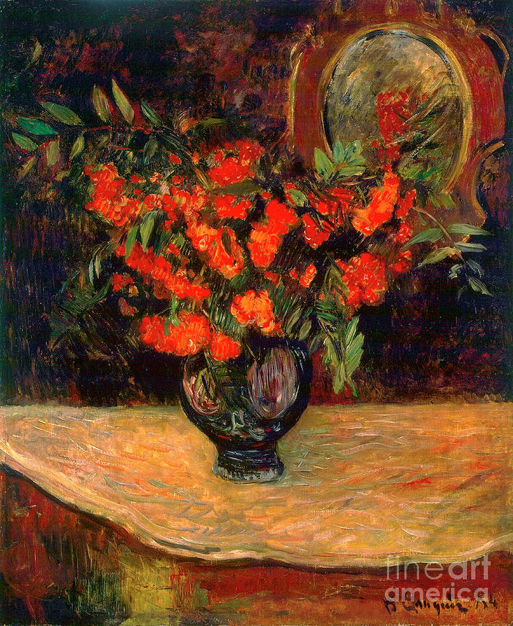 Bouquet, 1884. Artist Paul Gauguin Drawing by Heritage Images