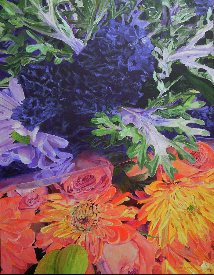 Flowers Painting - Bouquet 2 by Thomas Stead