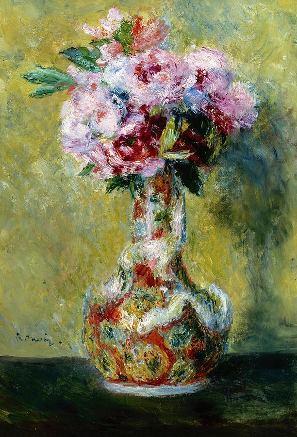 Auguste Renoir Painting - Bouquet In A Vase, 1878 by Auguste Renoir