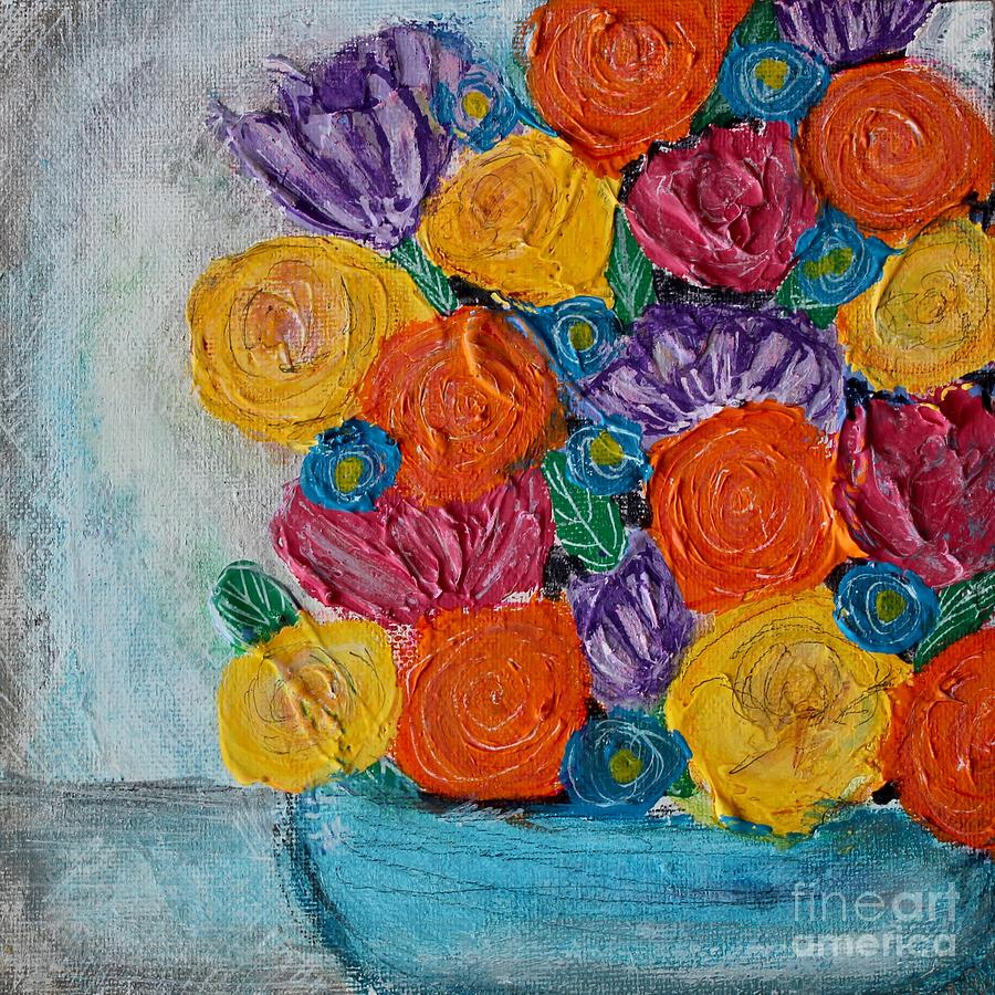 Blue Painting - Bouquet In Blue by Kim Nelson