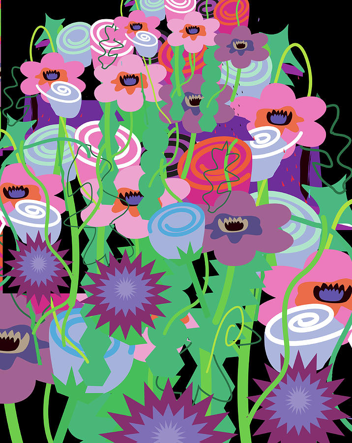 Bouquet Of Flowers Digital Art by Charles Harker