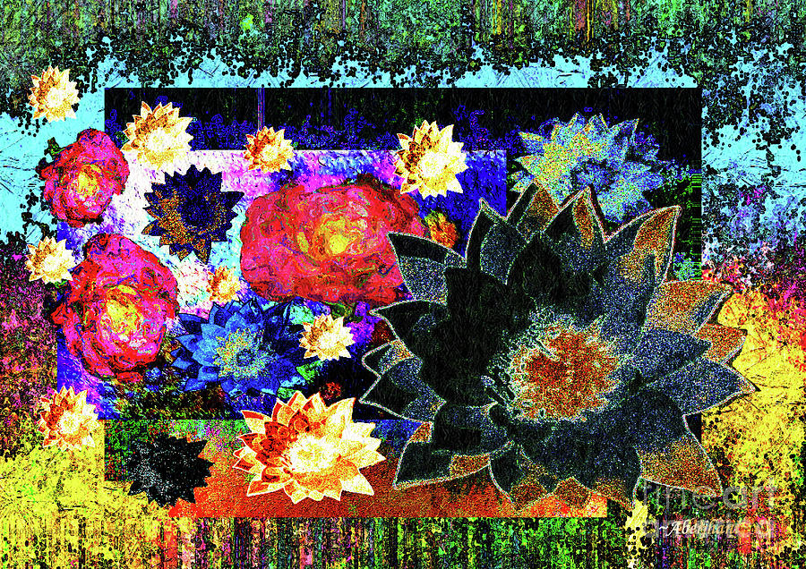 Garden Mixed Media - Bouquet Of Gratitude And Forgiveness by Aberjhani