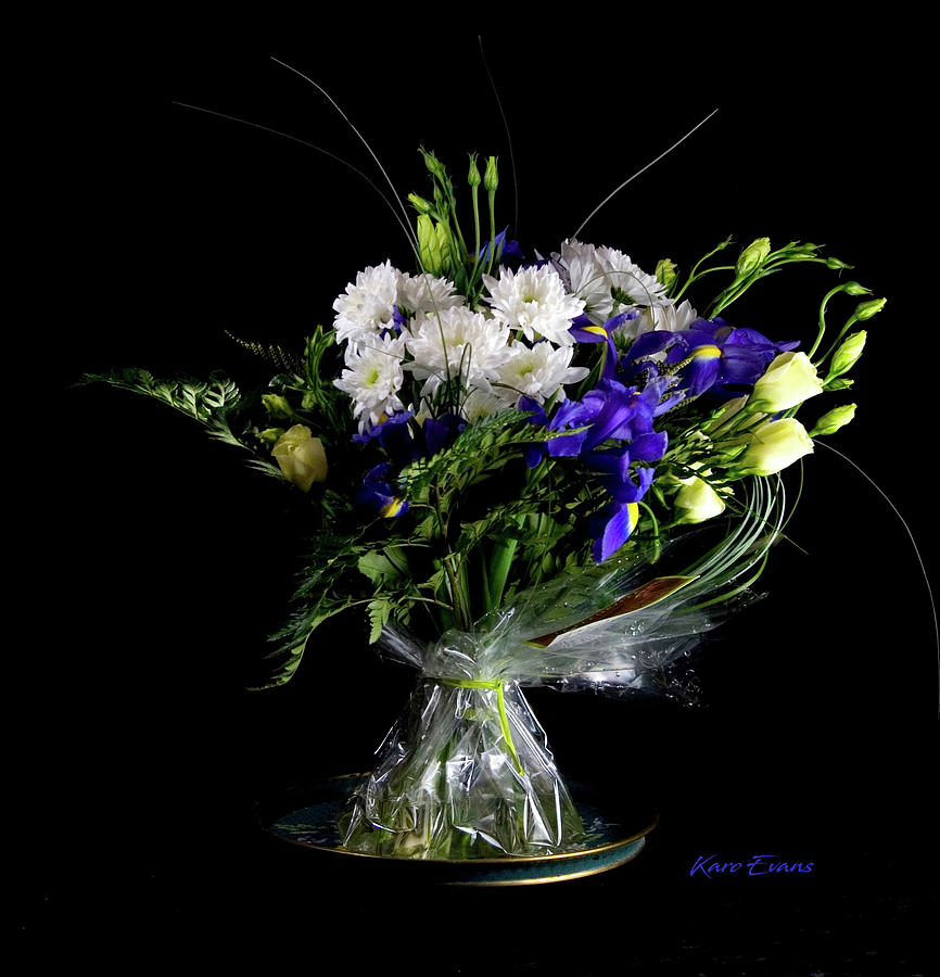 bouquet with irises by Karo Evans