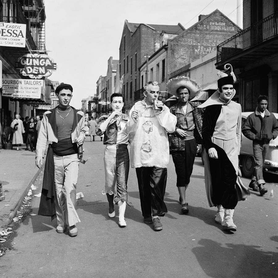 Bourbon Street During Mardi Gras Photograph by Jack Robinson