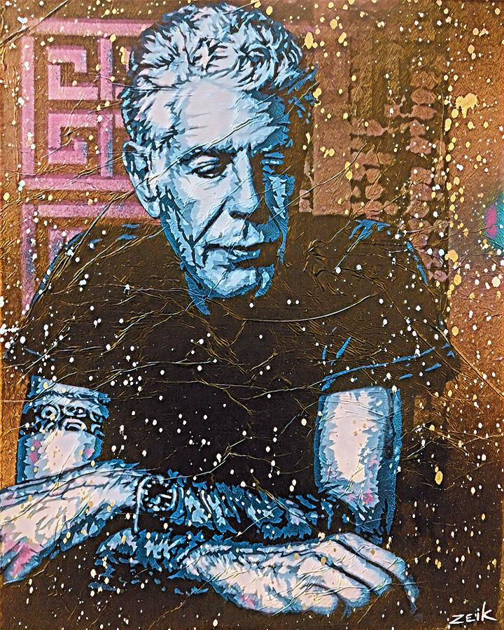 Art Print Painting - Bourdain - The Parts Unknown by Bobby Zeik