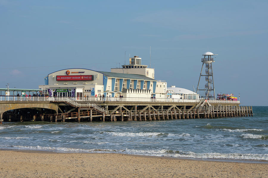 Pier Photograph - Bournemouth Pier 3 by Steev Stamford