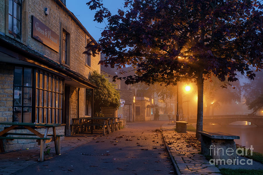 Autumn Photograph - Bourton On The Water October Morning by Tim Gainey
