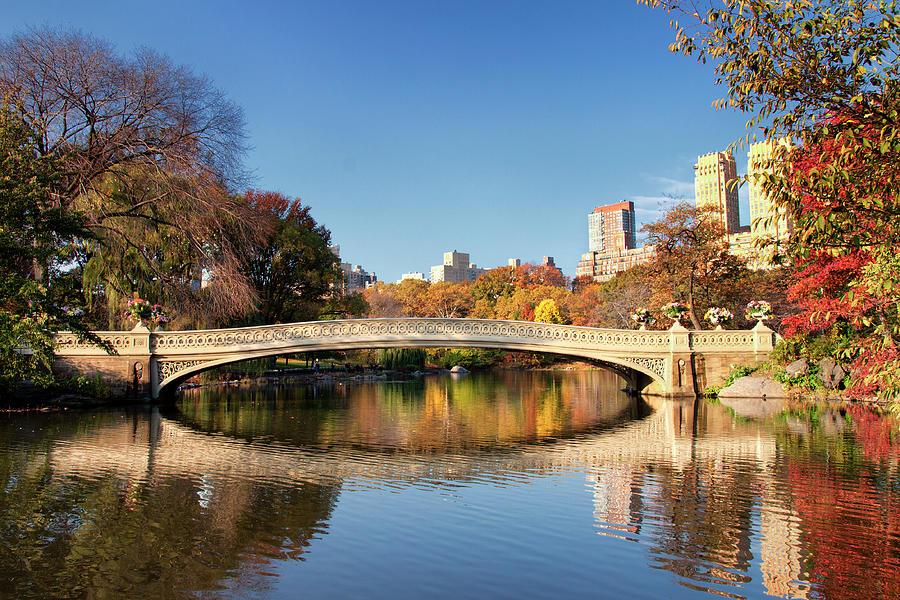 Bow Bridge, Central Park, New York Photograph by Matt Burke 2012