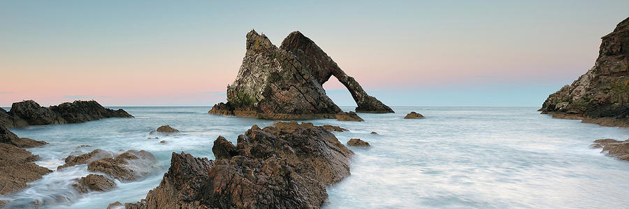 Bow Fiddle Rock Sunset - Port Knockie by Grant Glendinning