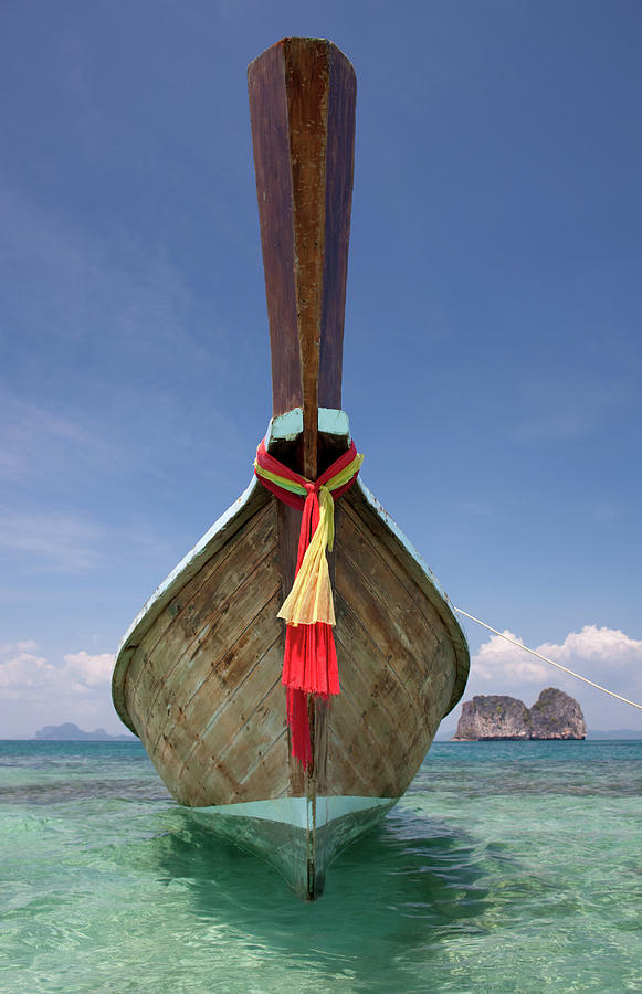 Bow Of A Long-tailed Boat, Thailand Photograph by Enviromantic