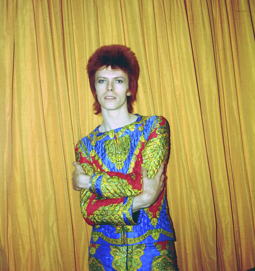 Bowie As Ziggy Stardust In Ny Photograph by Michael Ochs Archives
