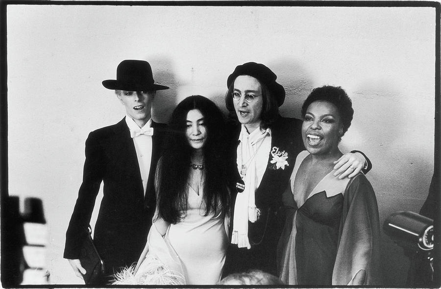 Bowie, Ono, Lennon, & Flack At The Photograph by Fred W. McDarrah