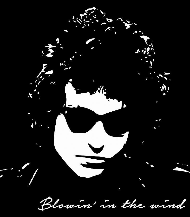 Bob Dylan Digital Art - Bowin In The Wind by Filip Schpindel