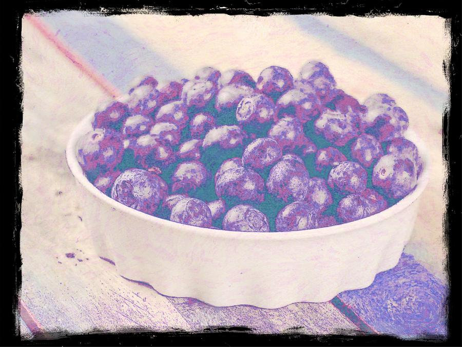 Bowl Of Blueberries 2 Photograph