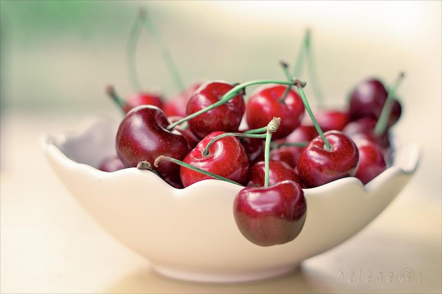 Bowl Of Cherries Photograph by Photo Hélène