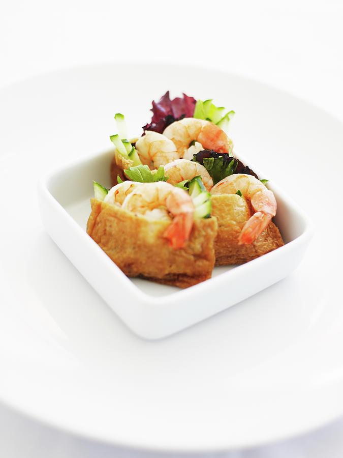 Bowl Of Prawn Dumpling Appetisers Photograph by Thomas Barwick