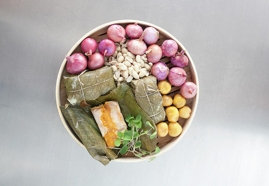Bowl Of Vegetables And Cooked Rolls Photograph by Laurie Castelli