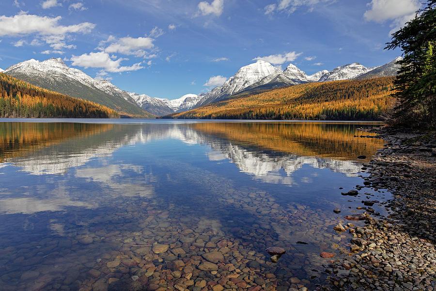 Bowman Lake Photograph - Bowman Lake Autumn Afternoon by Jack Bell