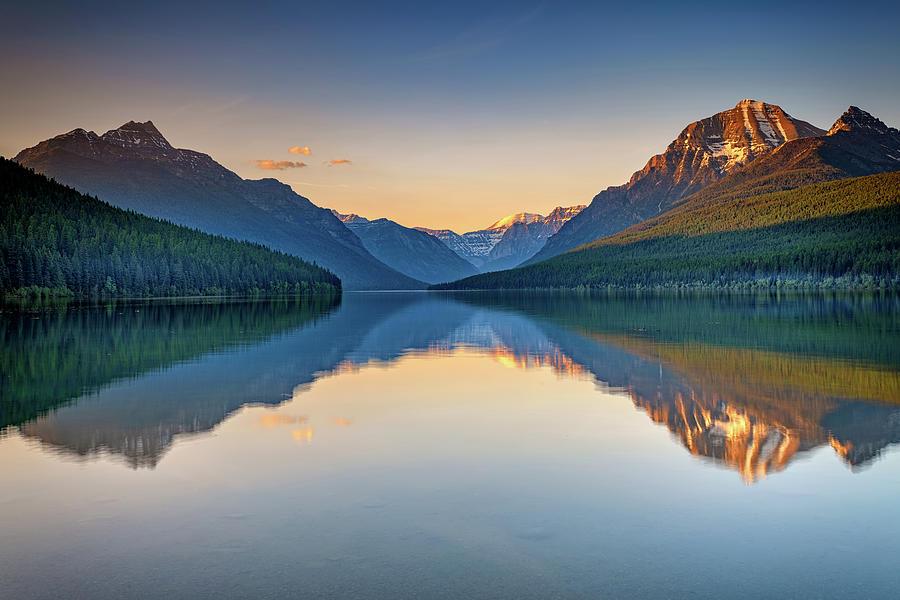 Bowman Lake Reflections by Rick Berk