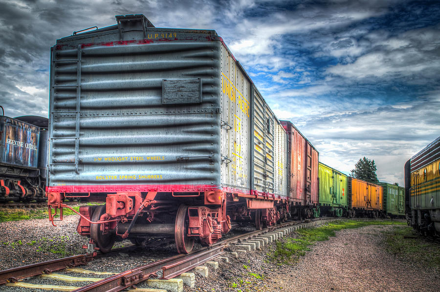 Hdr Photograph - Box Cars by G Wigler