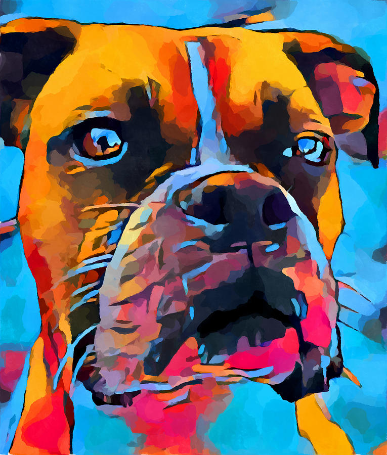 Dog Painting - Boxer by Chris Butler