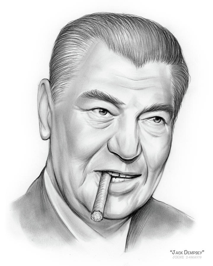 Boxer Jack Dempsey Drawing