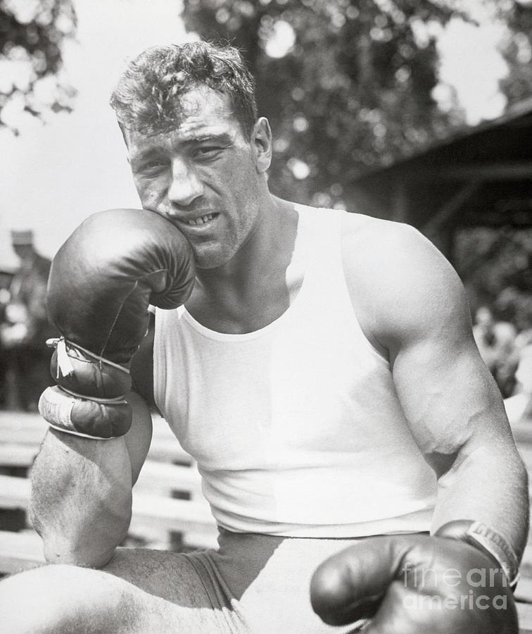 Boxer Primo Carnera Wboxing Gloves Photograph by Bettmann