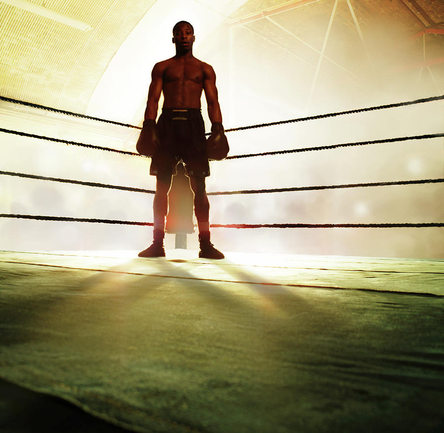 Boxer Standing In Corner Of Ring Photograph by Gandee Vasan