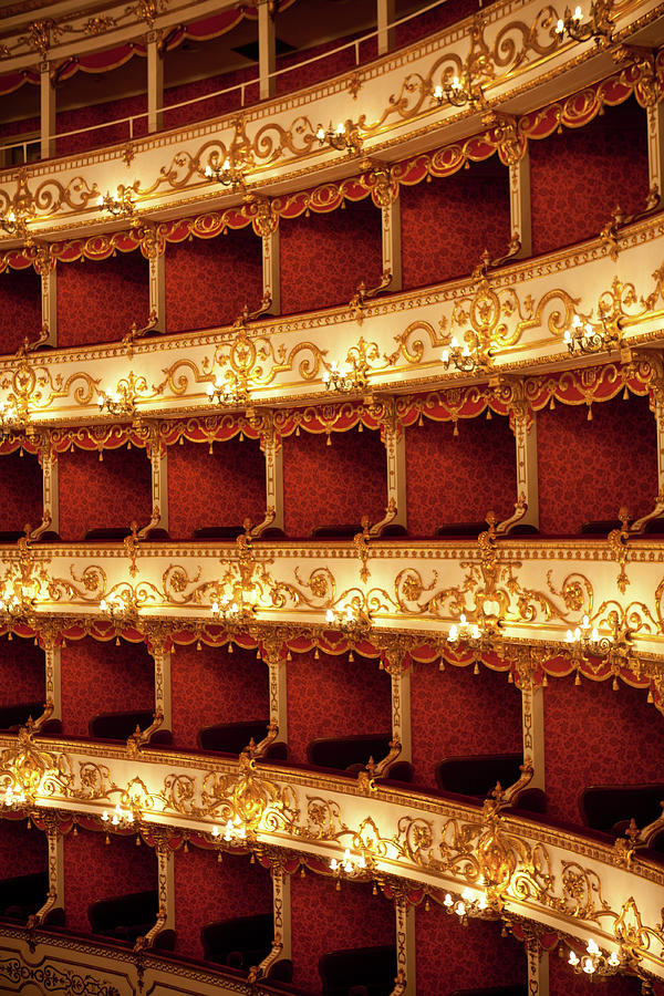 Boxes Of Italian Antique Theater Photograph by Naphtalina