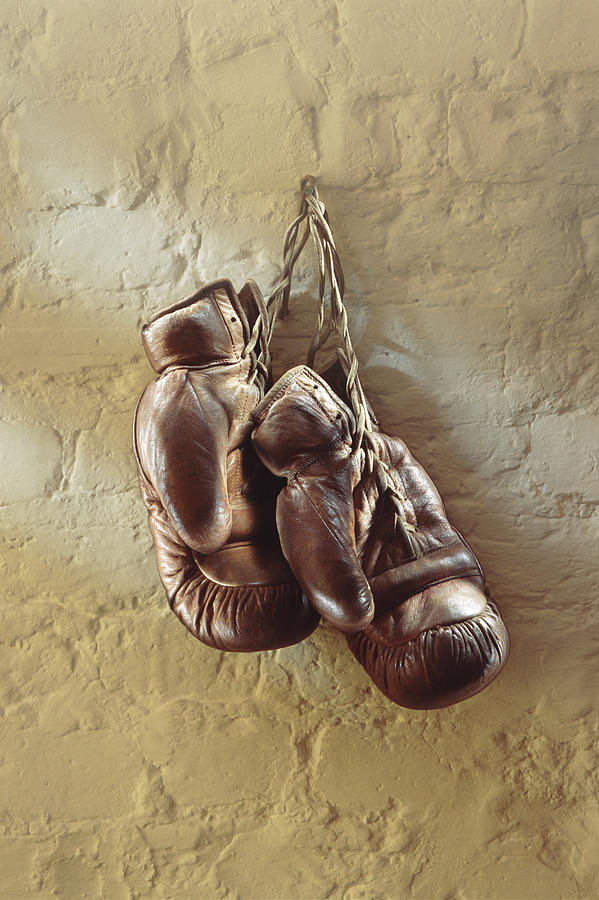 Boxing Gloves Hung Up On Wall Photograph by Romilly Lockyer