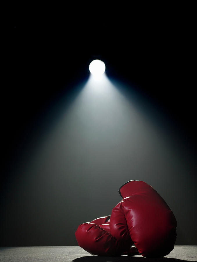 Boxing Gloves In Spotlight Photograph by Siri Stafford
