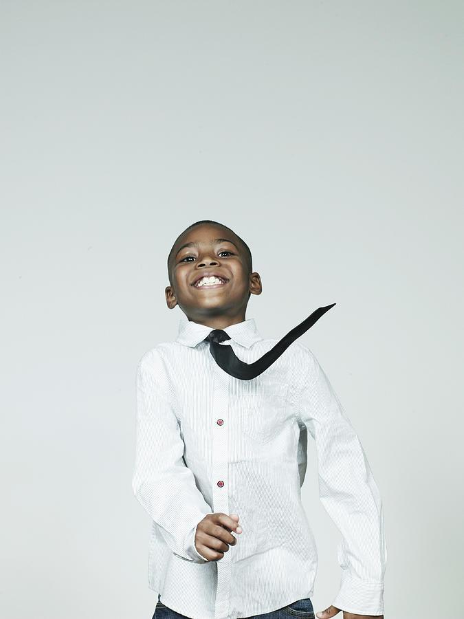 Boy 6-7 Dancing, Smiling, Portrait Photograph by Flashpop