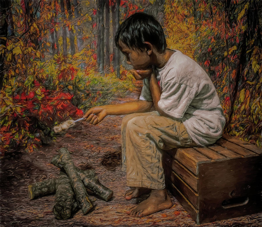 Boy All Alone in the Woods by Pamela Walton