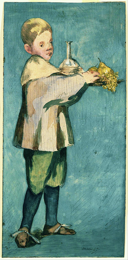Edouard Manet Painting - Boy Carrying A Tray - Digital Remastered Edition by Edouard Manet
