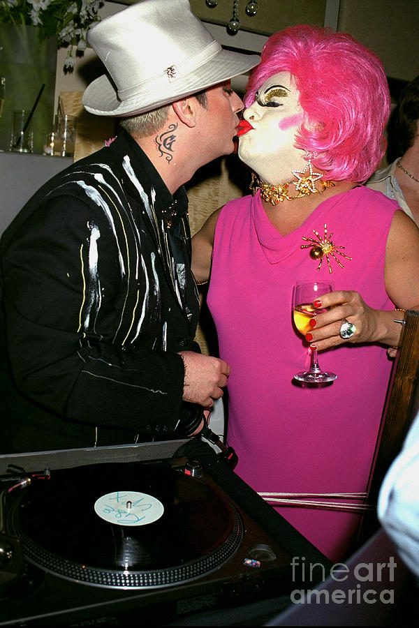 Boy George Kisses Brandiwine At The Photograph by New York Daily News Archive
