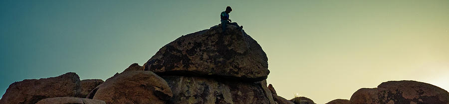 Boy Rock Climbing by Sandra Selle Rodriguez